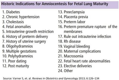 FLM test indications